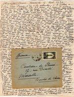 VP12.215 - Lettre De Mme La Comtesse De LEUSSE à MAZAGAN (Maroc ) Pour Mme La Comtesse De PERINI à MARSEILLE - Manuscripts