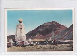 LINEA EQUINOCCIAL. QUITO. EDUARDO VTERI GUZMAN EDIT. CIRCA 1956. SIGNEE. AUTRES MARQUES.-BLEUP - Ecuador