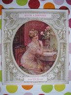 """MODE AUTREFOIS  High Life Taylor : """" SOUS L'EMPIRE """" Superbes Illustrations Couleurs Impr. DRAEGER 1904 - Art"""