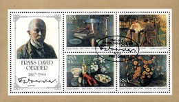 South Africa - 1985 Frans Oerder Paintings MS (o) # SG 653 , Mi Block 17 - Usati