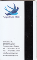 GREECE(chip) - Amphitryon, Hotel Keycard, Used - Hotel Keycards