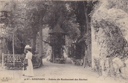 CPA, Robinson, Entrée Du Restaurant Des Roches (pk46774) - France