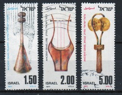 Israel Set Of Stamps From 1977 To Celebrate Ancient Musical Instruments. - Israel