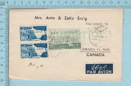 Rep. Syrienne - Commercial Envelope, Cover Hassake Syria 1959 To Mrs Anto & Zako Enrg. Disraelli Quebec Par Avion Ai - Syrie
