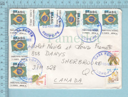 Brasil - 10 Stamps, Cover Casa Forte 1993 Recife-Pe Send To Sherbrooke Quebec Canada Canada - Brésil