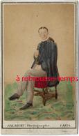 CDV Spécial Couleur-jeune Homme-cdv Colorisé Par Le Photographe Jalabert à Paris Vers 1880 - Photographs