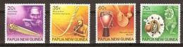 Papouasie Papua New Guinea 1990 Yvert 622-25 *** MNH Cote 6,50 Euro  Instruments De Musique - Papouasie-Nouvelle-Guinée