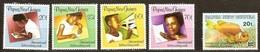 Papouasie Papua New Guinea 1989 Yvert 583-586 Et 596 *** MNH Cote 7,00 Euro - Papua-Neuguinea