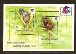 Papouasie Papua New Guinea 1994 Yvertn°  Bloc 6 *** MNH Cote 9 Euro Faune Phila Korea - Papua-Neuguinea