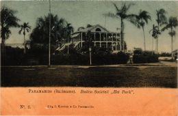 CPA PARAMARIBO Buiten Societeit Het Park SURINAME (a2953) - Suriname
