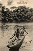 CPA Boschnegers In Hun Coriaal Op Weg Naar PARAMARIBO SURINAME (a2979) - Surinam