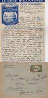 VP12.222 - Lettre De Mme La Comtesse De LEUSSE à MAZAGAN (Maroc ) Pour Mme La Comtesse De PERINI à MARSEILLE - Manuscripts
