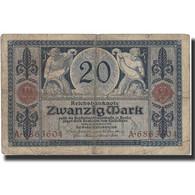 Billet, Allemagne, 20 Mark, 1915, 1906-03-10, KM:63, TB - [ 2] 1871-1918 : Empire Allemand