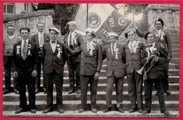 CPA CARTE PHOTO Aubé 41 St SAINT-AIGNAN L-et-C - Conscrits De La Classe 1933 * Drapeau Avec Marianne - Militaria - Saint Aignan