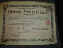 """Action """" Charbonnages Réunis Du Nord Donetz à Marievka """" 1905 Russie Russia Charbon Coal - Russie"""