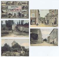 PAMPROUX (Deux-Sèvres) : Lot De 5 Cp Colorisées Vers 1913. Bon état. - France