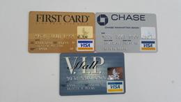 USA - 3 CREDIT CARDS - VISA - EXPIRED - Geldkarten (Ablauf Min. 10 Jahre)