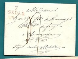 Ardennes - Sedan Pour Les Forges De Longuyon (Moselle). LAC De 1820 - Postmark Collection (Covers)