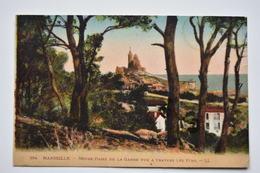 CPA- MARSEILLE, Notre Dame De La Garde Coloré - Carte Originale NO REPRO,  Dos Divisé! ANIMATION - Notre-Dame De La Garde, Lift