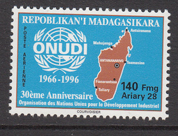 1996 Madagascar Malagasy UNIDO Map Industrial    Complete Set Of 1 MNH - Madagascar (1960-...)