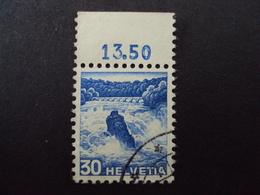 """1936- 2 Timbres N°295- Oblitérés Avec Bord De Feuille """"chutes Du Rhin""""     Net   15 Euros Pour Le Lot De 2 Timbres - Suisse"""