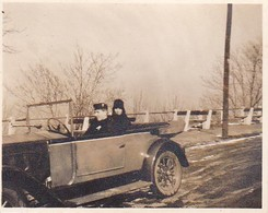 Foto Dame In Auto Mit Chauffeur - 1931 - 7*5,5cm (35094) - Orte