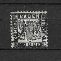 LOTE 1725  ///   (C045)  ALEMANIA BADEN  YVERT Nº: 9     CATALOG.2014 /COTE: 35€ - Baden