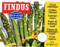 B 1938 - Etichetta, Findus - Frutta E Verdura