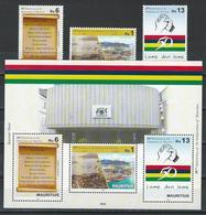 Mauritius. Scott #  MNH Set & S/sheet Of 3. 50th Anniv. Of Independence 2018 - Mauritius (1968-...)
