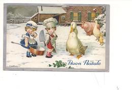 M5814 Illustratori Bertiglia Buon Natale 1934 Viaggiata - Bertiglia, A.