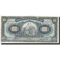 Billet, Pérou, 100 Soles, 1959, 1959-05-10, KM:79b, TTB - Pérou