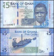 GHANA - 5 Cedis 04.03.2017 UNC P.43 - Ghana