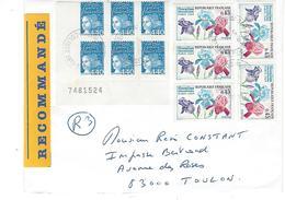 VARIETE MARIANNE DE LUQUET: Lettre Recommandée R3 - Marcophilie (Lettres)