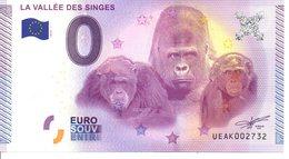 Billet Touristique 0€ La Vallée Des Singes 2015-1 (86) - EURO