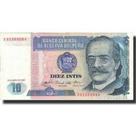 Billet, Pérou, 10 Intis, 1985, 1985-04-03, KM:128, TTB+ - Pérou