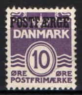 DANIMARCA - 1939 - CIFRA CON SOVRASTAMPA - USATO - Parcel Post