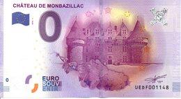 Billet Touristique 0€ Château De Monbazillac 2016-1 (24) - EURO