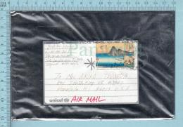 Japan - Plastic Envelope  Via Airmail To Honolulu Hawaii, UNICEF - Lettres & Documents