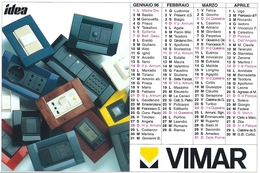DOPPIO  SEMESTRINO     -  Calendario Pubblicitario  VIMAR   -  Anno  1996. - Calendarios