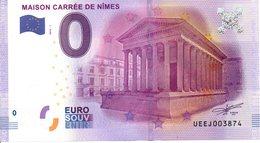 Billet Touristique 0€ Maison Carrée De Nîmes 2016-1 (30) - EURO