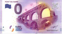 Billet Touristique 0€ Pont Du Gard 2017-1 (30) - EURO