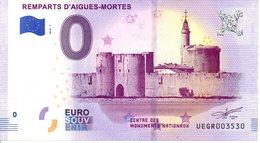 Billet Touristique 0€ Remparts D'Aigues-Mortes 2018-1 (30) - EURO