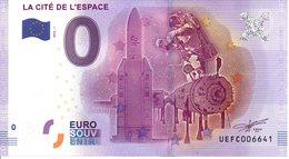 Billet Touristique 0€ La Cité De L'Espace 2016-1 (31) - EURO