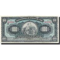Billet, Pérou, 100 Soles, 1959, 1959-05-10, KM:79b, NEUF - Perú
