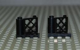 Légo 2 Barrière Noir Portail Ref 3358 Et 3359 1x3x2 - Lego Technic