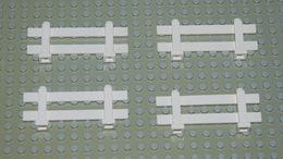 Légo 4 Barrière Clôture Blanche Ref 6079 1x8x2 - Lego Technic