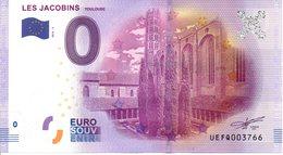 Billet Touristique 0€ Les Jacobins - Toulouse 2016-2 (31) - EURO