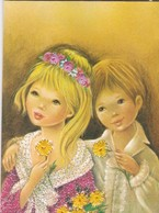 (Alb 1.10) Cartes Postale Habillée Ou Brodée - Cartes Postales