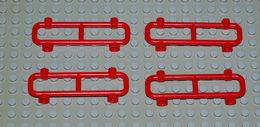 LEGO 4 X Barrière Clôture 2486 Rouge 1x8x2 - Lego Technic