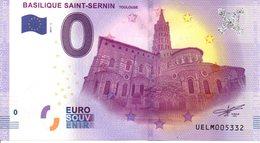 Billet Touristique 0€ Basilique Saint-Sernin - Toulouse 2017-1 (31) - EURO